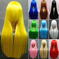 New Trend Cool party Girl's Fashion Colorful Long Cosplay Wigs 80CM/31.5' NA47