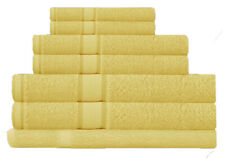 Yellow 100% Cotton Bath Towel Range 7 Pieces Set or Single Pieces Choice