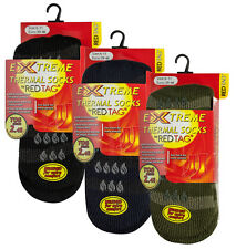 RED TAG Mens Extreme Thermal Slipper Socks W/ Grippers TOG 2.45 Warm Winter