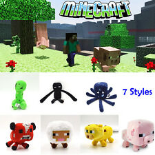Jazwares Minecraft Game Enderman Creeper Squid Pig Animal Plush Soft Toy Doll