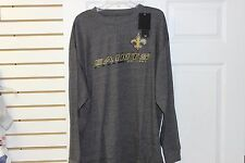 New Orleans Saints Charcoal Heather 2 Hit NFL Team Apparel T Shirt Big and Tall