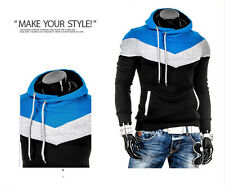 New Men's Winter Slim Hoodie Warm Hooded Sweatshirt Coat Jacket Outwear Sweater