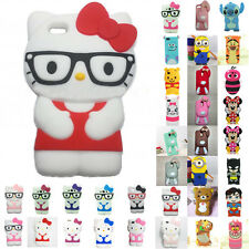 Silicone Shockproof Skin For Apple iPhone Case Cover Print 3D Cute Cartoon