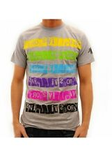 Heroes and Villains Mens Letter Blocks Grey T-Shirt