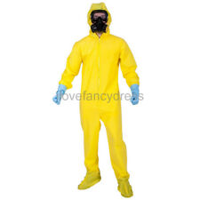 YELLOW HAZ MAT SUIT INFECTIOUS DISEASE SURVIVAL COSTUME HALLOWEEN FANCY DRESSS