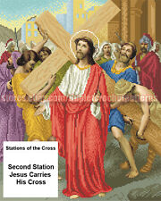 Stations of the Cross religious picture DIY beaded embroidery needlework kit