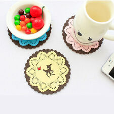 NEW Coasters Cup Cushion Drinks Placemat Holder Novelty Silicone Lovely cheap