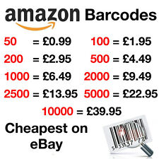 Amazon Barcodes EAN-13 Bar Code  UPC  Numbers Listing Codes Delivery 50-10000