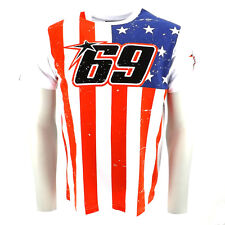 Official 2014 Nicky Hayden 69 Moto GP USA Flag T-Shirt
