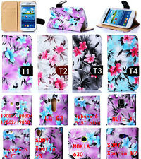 Fashion Mercerizing flip wallet pu leather stand case cover for Many mobile phon