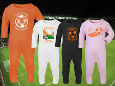 BLACKPOOL Football Baby Romper Suit Sleep Personalised Cute Gift-Any team/colour