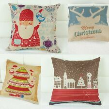 Merry Christmas Santa Claus Decorative Cushion Covers Square Pillow Cases 16.54""