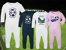 BOLTON WANDERERS Football Baby Romper Suit Sleep Top Personalised Gift- Any team