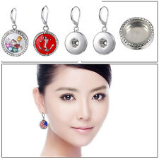 2018 Hot Snaps-It Chunk Button Floating Charms Locket for Snap Earrings Jewelry