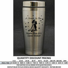 Personalized Stainless Steel Travel Mug Mugs Prom Custom Engraved Formal Dance