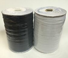 3/8 Inch Brand New Braided Elastic Black/White Roll (144 Yards)