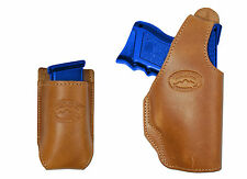 New Barsony Tan Leather OWB Holster + Mag Pouch Springfield Compact 9mm 40 45