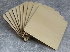 Solid Wooden Square Coaster Shapes Craft Squares Large Wood Blank Coasters