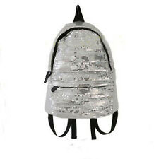 Black/ White Women Student Sequins Rucksack Travel Backpack Campus Schoolbag