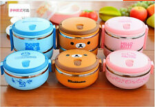 Lovely creative stainless steel insulated lunchbox students bento boxes