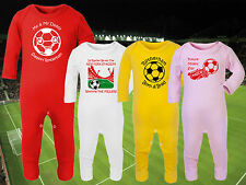 ROTHERHAM UNITED Football Baby Romper Suit Sleep Personalised Cute Gift-Any team
