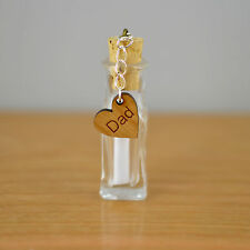 Unique Fathers Day Personalized Message In a Bottle Present Gift For Father's