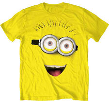 Despicable Me Big Yellow Minion Face Smile NWT Adult Costume T-Shirt