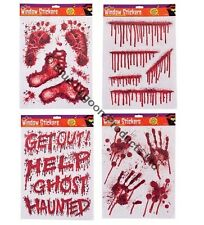 HALLOWEEN DECORATION TRICK OR TREAT WINDOW STICKERS WITCH ZOMBIE SKULL PARTY