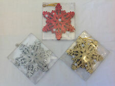 Glitter Christmas Hanging Decorations - 1 Pk of 5