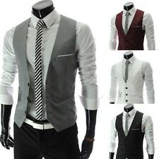 XMAS BIG CHEAP Mens WINTER Casual Formal Dress Vest Waistcoat Blazer Jacket Coat