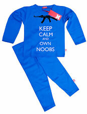 NEW STARDUST KIDS CHILDRENS BOYS GIRLS ROBLOX INSPIRED KEEP OWN NOOBS PYJAMAS