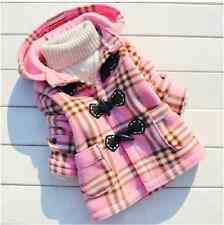 Hot Autumn and Winter Girl's lattice coat jacket with Hat