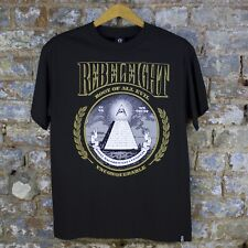 REBEL8 ROOT OF ALL EVIL  TEE Basic Logo Casual T-Shirt New -black - Size: S/L