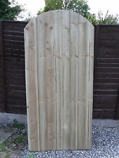 Wooden Garden Gate/ Side Gate/  Made To Measure Heavy Duty Bow Top