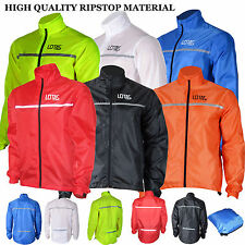 Mens Lightweight Waterproof Cycling Jacket Running High Visibility Jacket