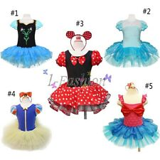 Xmas Frozen Minnie Mouse Baby Toddler Girl Party Costume Ballet Tutu Dress Up
