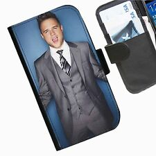 Olly Murs Leather wallet personalised phone case for Samsung phone models