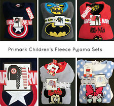 PRIMARK Boys Girls Childrens FLEECE PYJAMA SETS MARVEL DISNEY BATMAN PJ'S