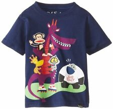 Paul Frank Toddler Boy's Julius & Friends Big Bully Short Sleeve T-Shirt, Navy