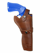 "NEW Barsony Brown Leather Western Style Gun Holster for Ruger 6"" Revolvers"