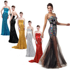 FREE SHIP~Sparkly Masquerade Wedding Evening/Formal/Ball Gown/Prom Long Dresses