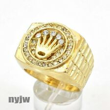 (SWAGGERS) NEW HOT ICED OUT MENS RAPPER BIG CHUNKY CROWN WATCH BAND DESIGN RING