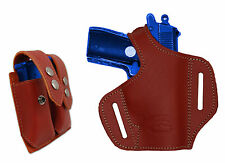 NEW Barsony Burgundy Leather Pancake Gun Holster + Mag Pouch Walther SIG 22 25