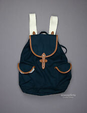 New Abercrombie & Fitch Womens A&F School Leather Trim Backpack