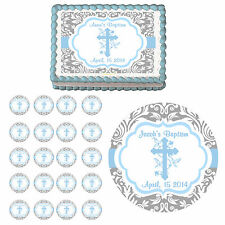 Baptism Christening 1st Communion Party Edible Cake Topper Cupcake Decoration