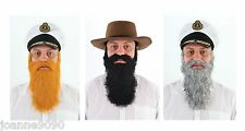 MENS ADULT BEARD AND MOUSTACHE TASH PANTO GNOME FANCY DRESS COSTUME ACCESSORY BN