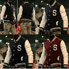 SALE Men Fashion Varsity Jacket Baseball School College Casual Coats and Jackets