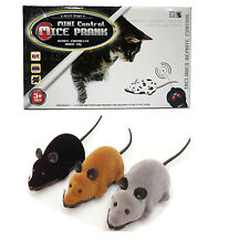 Remote Control RC Wireless Rat Mouse Mice Toy For Cat Dog Puppy Novelty New
