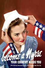 Become a Nurse Your Country Needs You American USA Vintage Poster Repro FREE S/H