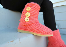 Yarn-Knitted Boots